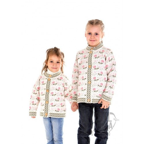 Kid's jacket with roses