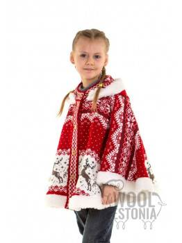 Kid's poncho with a deer