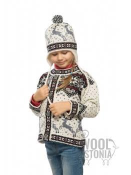 Детская зимняя шапка с оленем