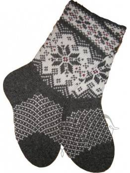 Woolen socks with a star