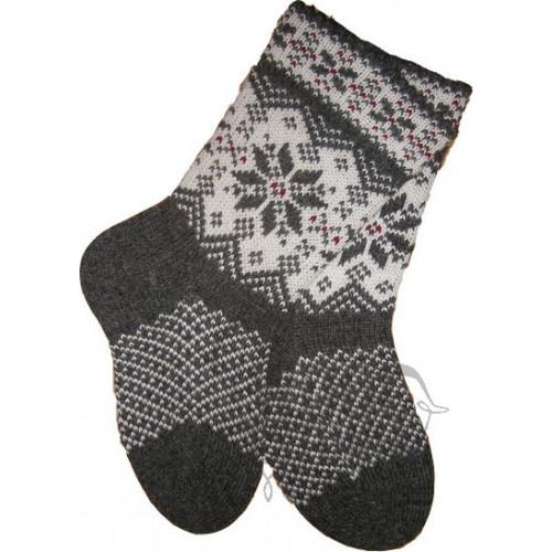 Woolen socks with a star