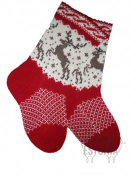 Woolen socks with a deer