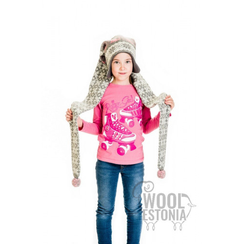 Hat-scarf with cats