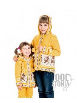 Lasten hupullinen Bembi villatakki