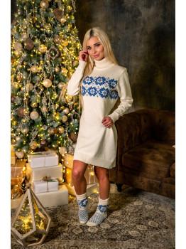 Naiste villane valge kleit. Merino vill. pehme vill.