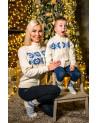 Детский свитер белый с узором. Выполене из шерсти меринос. Очень мягкая шерсть.