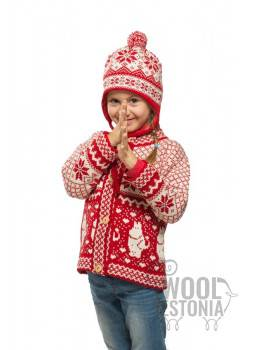 Kids winter hat with a star