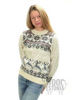 Женский свитер с оленем