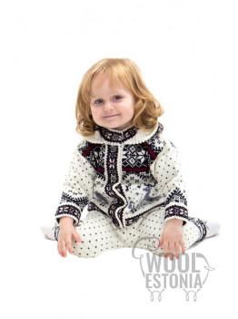 Детская кофта с оленем, с капюшоном