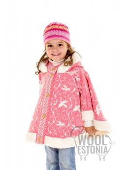 Kid's poncho with birds