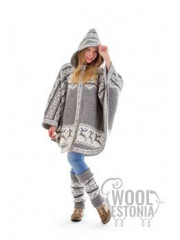 Woman's poncho with a deer