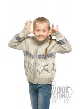 Детский джемпер на молнии с оленем