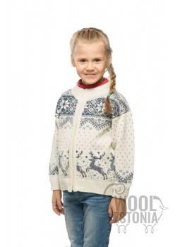 Teens full-zip jacket with a deer