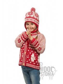Детская зимняя шапка со звездой