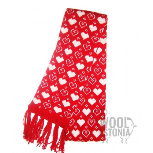 Scarf with hearts