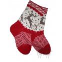 Woolen socks with a deer