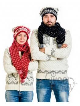 Шапка-шарф с оленем