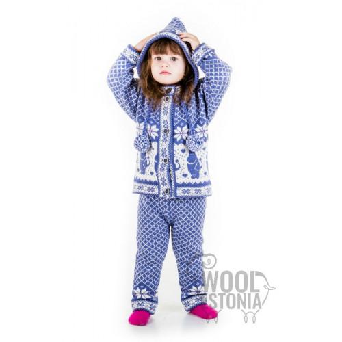 Детский кофта с Муми-троллем, с капюшоном