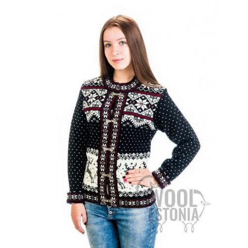 Woolen jacket with a deer