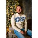 Men's sweater with zipper. 100% merino wool.