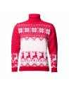 Men's  sweater with a deer, red, woolen sweater